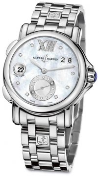 Ulysse Nardin GMT Big Date 37mm Ladies watch, model number - 243-22-7/391, discount price of £5,478.00 from The Watch Source