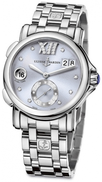 Ulysse Nardin GMT Big Date 37mm Ladies watch, model number - 243-22-7/30-07, discount price of £4,830.00 from The Watch Source