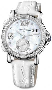 Ulysse Nardin GMT Big Date 37mm Ladies watch, model number - 243-22b/391, discount price of £8,058.00 from The Watch Source