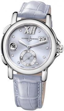 Ulysse Nardin GMT Big Date 37mm Ladies watch, model number - 243-22/30-07, discount price of £4,275.00 from The Watch Source