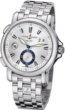 Ulysse Nardin GMT Big Date 42mm Mens watch, model number - 243-55-7/91, discount price of £5,223.00 from The Watch Source