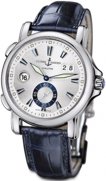 Ulysse Nardin GMT Big Date 42mm Mens watch, model number - 243-55/91, discount price of £4,320.00 from The Watch Source