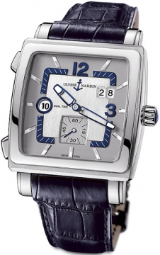 Ulysse Nardin Quadrato Dual Time Mens watch, model number - 243-92/601, discount price of £5,210.00 from The Watch Source