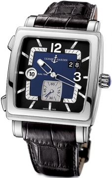Ulysse Nardin Quadrato Dual Time Mens watch, model number - 243-92/632, discount price of £5,537.00 from The Watch Source