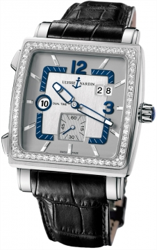 Ulysse Nardin Quadrato Dual Time Mens watch, model number - 243-92b/601, discount price of £11,959.00 from The Watch Source