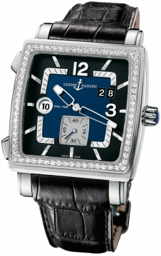 Ulysse Nardin Quadrato Dual Time Mens watch, model number - 243-92b/632, discount price of £11,959.00 from The Watch Source