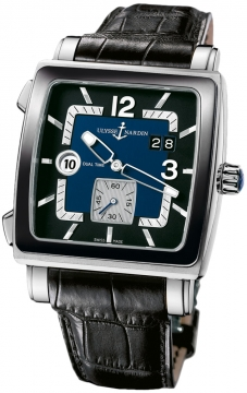 Ulysse Nardin Quadrato Dual Time Mens watch, model number - 243-92cer/632, discount price of £5,537.00 from The Watch Source