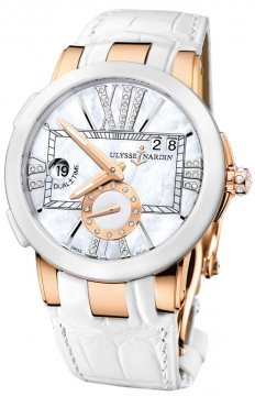 Ulysse Nardin Executive Dual Time Lady Ladies watch, model number - 246-10/391, discount price of £13,787.00 from The Watch Source