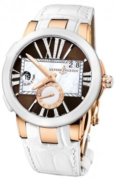 Ulysse Nardin Executive Dual Time Lady Ladies watch, model number - 246-10/30-05, discount price of £13,787.00 from The Watch Source