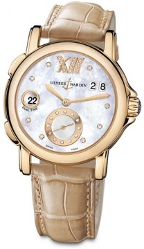 Ulysse Nardin GMT Big Date 37mm Ladies watch, model number - 246-22/391, discount price of £12,971.00 from The Watch Source