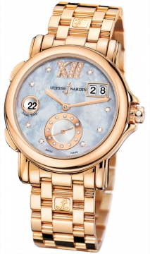 Ulysse Nardin GMT Big Date 37mm Ladies watch, model number - 246-22-8/392, discount price of £25,937.00 from The Watch Source