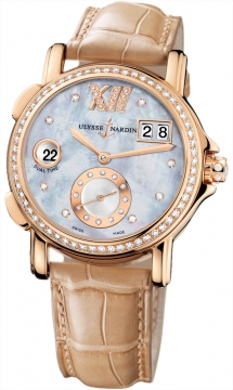 Ulysse Nardin GMT Big Date 37mm Ladies watch, model number - 246-22B/392, discount price of £16,179.00 from The Watch Source