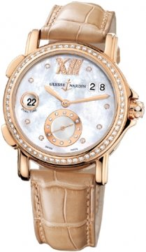 Ulysse Nardin GMT Big Date 37mm Ladies watch, model number - 246-22B/391, discount price of £16,179.00 from The Watch Source