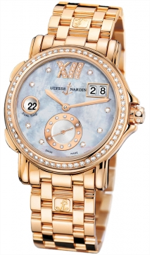 Ulysse Nardin GMT Big Date 37mm Ladies watch, model number - 246-22b-8/392, discount price of £22,729.00 from The Watch Source