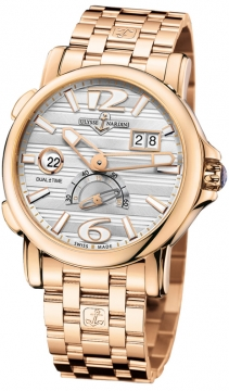 Ulysse Nardin GMT Big Date 42mm Mens watch, model number - 246-55-8/60, discount price of £23,736.00 from The Watch Source