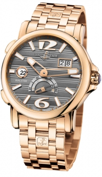 Ulysse Nardin GMT Big Date 42mm Mens watch, model number - 246-55-8/69, discount price of £23,736.00 from The Watch Source
