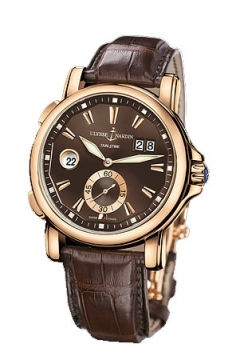 Ulysse Nardin GMT Big Date 42mm Mens watch, model number - 246-55/95, discount price of £12,937.00 from The Watch Source