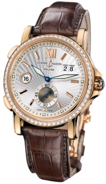 Ulysse Nardin GMT Big Date 42mm Mens watch, model number - 246-55b/31, discount price of £18,759.00 from The Watch Source