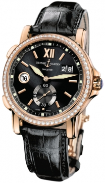 Ulysse Nardin GMT Big Date 42mm Mens watch, model number - 246-55b/32, discount price of £16,552.00 from The Watch Source