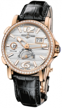 Ulysse Nardin GMT Big Date 42mm Mens watch, model number - 246-55b/60, discount price of £18,759.00 from The Watch Source
