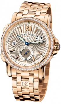 Ulysse Nardin GMT Big Date 42mm Mens watch, model number - 246-55b-8/30, discount price of £25,166.00 from The Watch Source