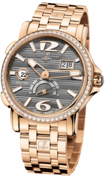 Ulysse Nardin GMT Big Date 42mm Mens watch, model number - 246-55b-8/69, discount price of £28,521.00 from The Watch Source