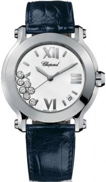 Chopard Happy Sport Round Quartz 36mm Ladies watch, model number - 278475-3001, discount price of £4,080.00 from The Watch Source