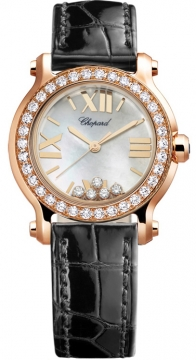 Chopard Happy Sport Round Quartz 30mm Ladies watch, model number - 274189-5005, discount price of £11,721.00 from The Watch Source