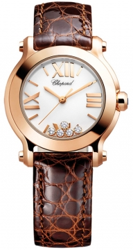 Chopard Happy Sport Round Quartz 30mm Ladies watch, model number - 274189-5010, discount price of £6,613.00 from The Watch Source
