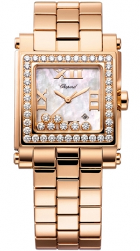 Chopard Happy Sport Square Quartz Medium Ladies watch, model number - 275322-5002, discount price of £21,402.00 from The Watch Source