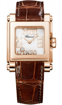 Chopard Happy Sport Square Quartz Small Ladies watch, model number - 275349-5001, discount price of £7,310.00 from The Watch Source