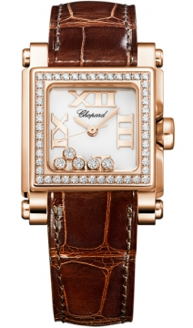 Chopard Happy Sport Square Quartz Small Ladies watch, model number - 275349-5003, discount price of £11,645.00 from The Watch Source