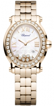 Chopard Happy Sport Oval Quartz Ladies watch, model number - 275350-5004, discount price of £26,418.00 from The Watch Source