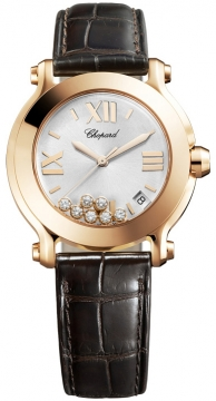 Chopard Happy Sport Round Quartz 36mm Ladies watch, model number - 277471-5013, discount price of £7,871.00 from The Watch Source