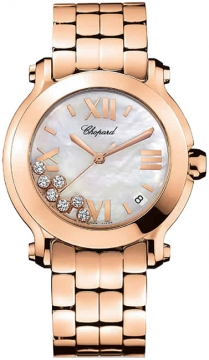 Chopard Happy Sport Round Quartz 36mm Ladies watch, model number - 277472-5002, discount price of £17,212.00 from The Watch Source