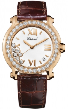Chopard Happy Sport Round Quartz 36mm Ladies watch, model number - 277473-5001, discount price of £15,300.00 from The Watch Source