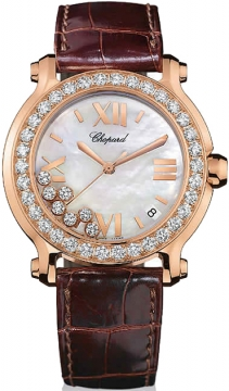 Chopard Happy Sport Round Quartz 36mm Ladies watch, model number - 277473-5002, discount price of £15,555.00 from The Watch Source