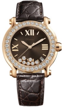 Chopard Happy Sport Round Quartz 36mm Ladies watch, model number - 277473-5008, discount price of £15,129.00 from The Watch Source