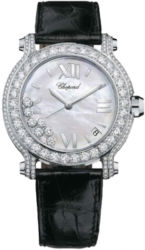 Chopard Happy Sport Round Quartz 36mm Ladies watch, model number - 277480-1001, discount price of £35,700.00 from The Watch Source