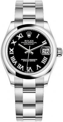 Rolex Datejust 31mm Stainless Steel 278240 Black Roman Oyster watch