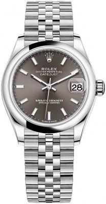 Rolex Datejust 31mm Stainless Steel 278240 Dark Grey Index Jubilee watch