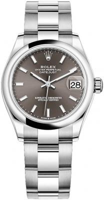 Rolex Datejust 31mm Stainless Steel 278240 Dark Grey Index Oyster watch