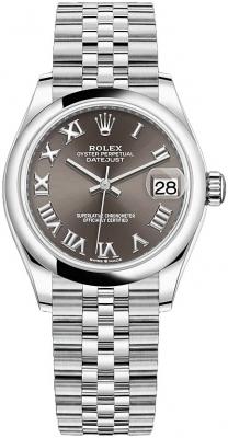 Rolex Datejust 31mm Stainless Steel 278240 Dark Grey Roman Jubilee watch