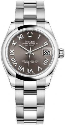 Rolex Datejust 31mm Stainless Steel 278240 Dark Grey Roman Oyster watch
