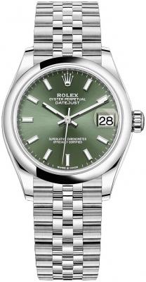 Rolex Datejust 31mm Stainless Steel 278240 Mint Green Index Jubilee watch