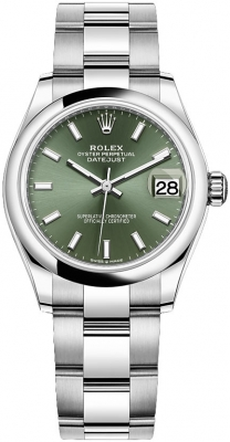 Rolex Datejust 31mm Stainless Steel 278240 Mint Green Index Oyster watch