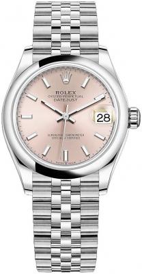 Rolex Datejust 31mm Stainless Steel 278240 Pink Index Jubilee watch