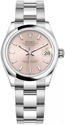 Rolex Datejust 31mm Stainless Steel 278240 Pink Index Oyster watch