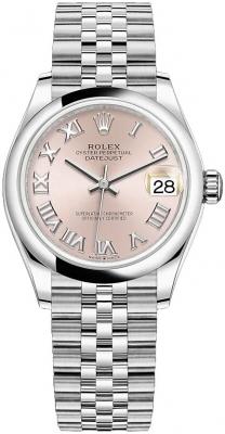 Rolex Datejust 31mm Stainless Steel 278240 Pink Roman Jubilee watch