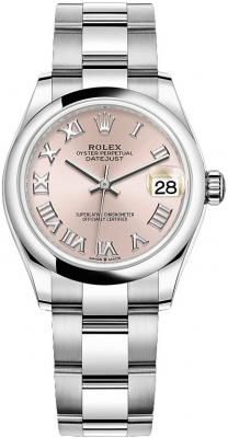 Rolex Datejust 31mm Stainless Steel 278240 Pink Roman Oyster watch